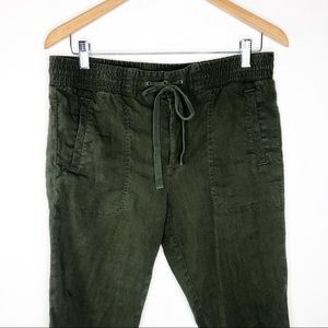 🌿 Lou & Grey Forest Green Ankle Pants